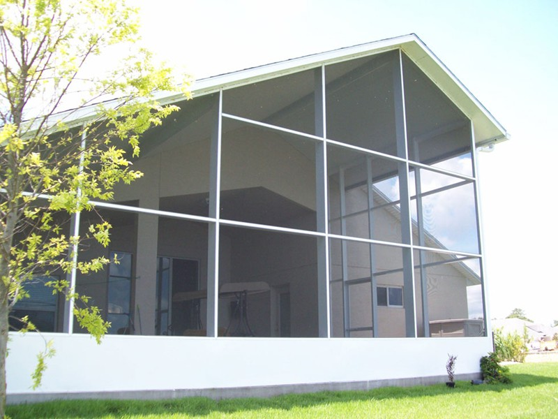 screen room added to back of ormond beach home by east coast aluminum