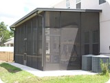 Screened-in porch added to Ormond Beach home by East Coast Aluminum