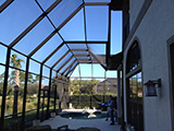 Two story pool enclosure by East Coast Aluminum
