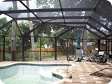 Volusia county pool enclosure by East Coast Aluminum